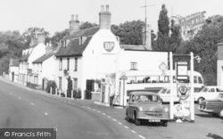 Main Road, Robinson's Garage c.1965, Kimbolton