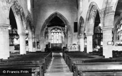 Kimbolton, St Andtrew's Church, Interior c.1960