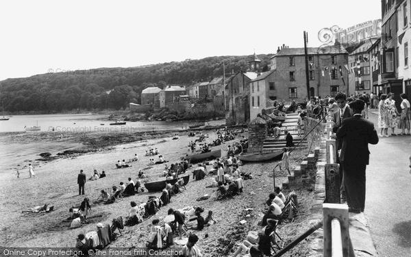 Photo of Kingsand, The Beach c.1955