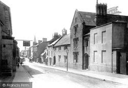 Kingsbridge, Fore Street And Grammar School 1895