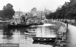 Kingsbridge, Paddle Steamer On The River 1920