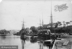 Kingsbridge, Sailing Ships c.1890