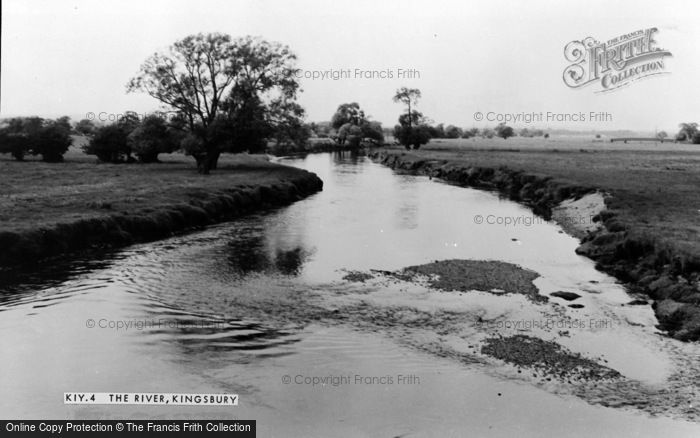 Photo of Kingsbury, The River c.1955