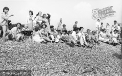 Kingsdown, Holiday Campers On The Beach c.1965