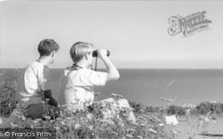 Scout Camp, Boys With Binoculars c.1965, Kingsdown