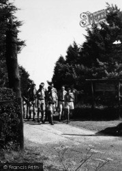 Scout Camp, Scouts At The Main Entrance c.1965, Kingsdown