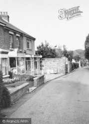 Shops In Upper Street c.1955, Kingsdown