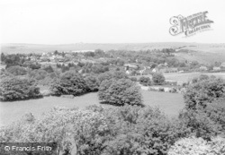 Kingston Near Lewes, View From Kingston Hill c.1960