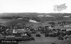 Kingston Near Lewes, View From The Top Of Kingston Hill c.1960