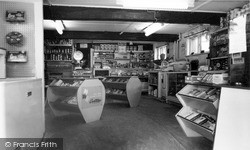 Kingston Near Lewes, Village Shop And Post Office Interior c.1960