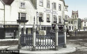 Kingston upon Thames, the Coronation Stone 1893