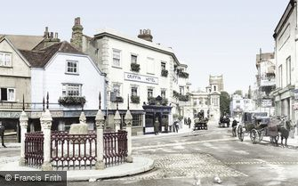 Kingston upon Thames, the Coronation Stone 1906