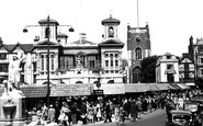 Kingston upon Thames, the Market Place c1955