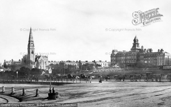 Photo of Kingstown, Church And Royal Marine Hotel 1897