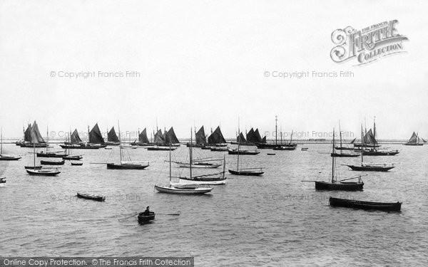 Photo of Kingstown, Harbour Fishing Fleet 1897
