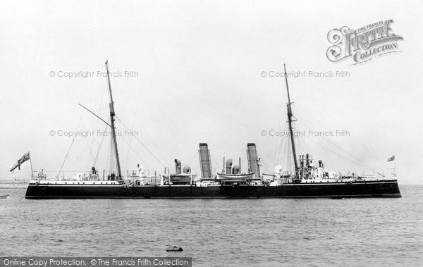 Photo of Kingstown, HMS Pelorus 1897