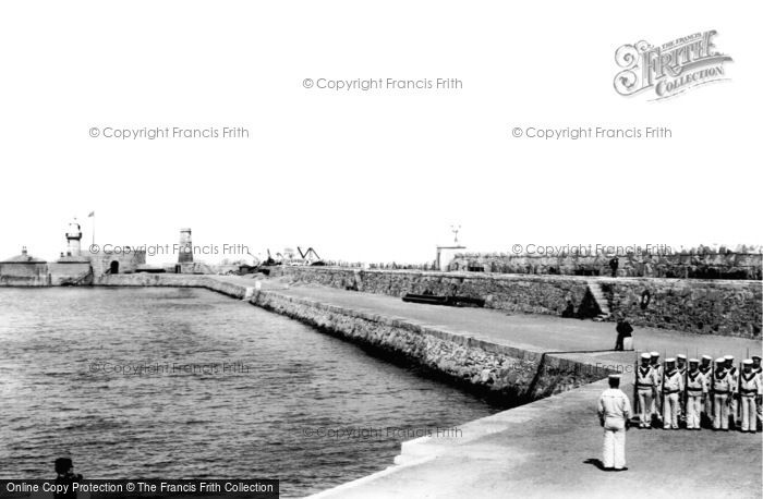 Photo of Kingstown, Pier And Lighthouse 1897