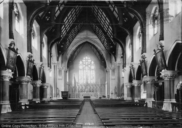 Photo of Kingstown, St Michael's Rc Church Interior 1897