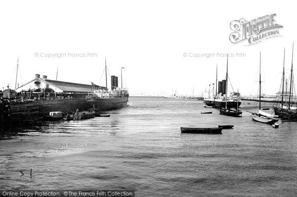 Photo of Kingstown, The Harbour, Mail Boats 1897