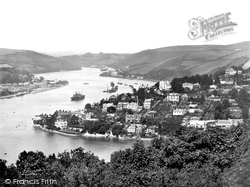 Kingswear, Town And River Bank 1925