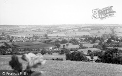 Kington, From Bradnor Hill c.1955