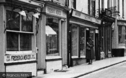 Kington, High Street, A Window Shopper  c.1955