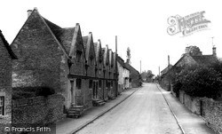 Kington St Michael, The Almshouses c.1960