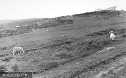 Kington, The Golf Links, 1,284 Ft Above Sea Level c.1955