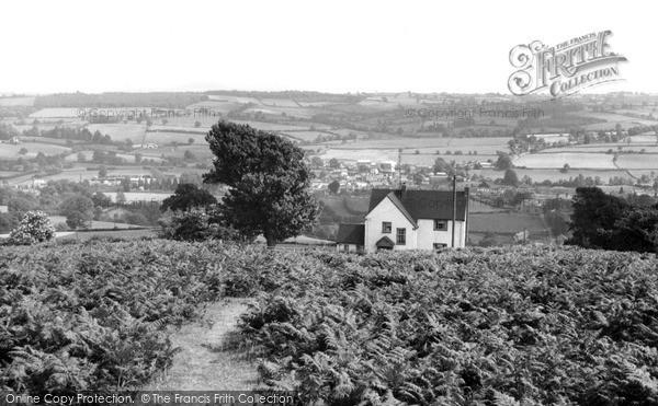 Kington, view from Bradnor Hill c1965