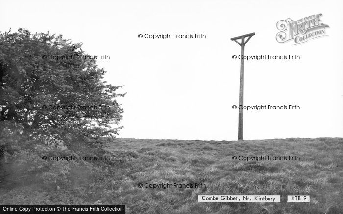 Photo of Kintbury, Combe Gibbet c.1965