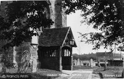 Kirdford, The Church Porch c.1950