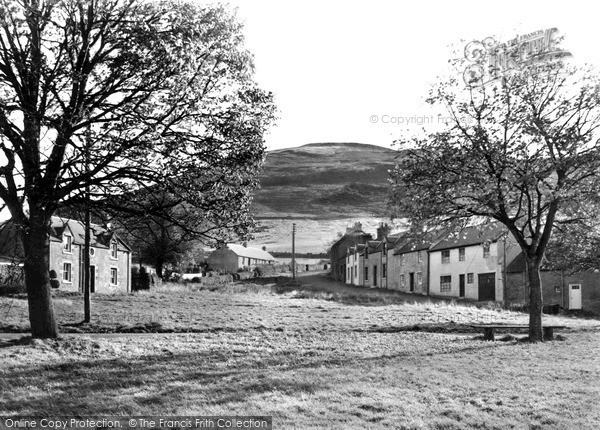 Photo of Kirk Yetholm, and Stareoligh c1955, ref. K196011
