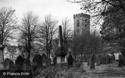 All Hallows' Church And Church Yard c.1950, Kirkburton
