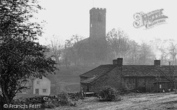 All Hallows' Church From Near The Cricket Ground c.1950, Kirkburton