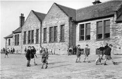 Children In Playground, Church Of England School c.1950, Kirkburton