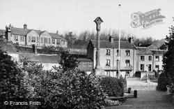 War Memorial Gardens And Church School c.1950, Kirkburton