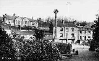 Kirkburton, War Memorial Gardens and Church School c1950