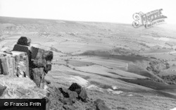 Kirkby In Cleveland, View From South Wainstones c.1955