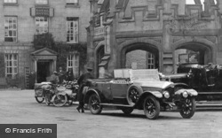 Chauffeur And Car, Market Square 1924, Kirkby Lonsdale