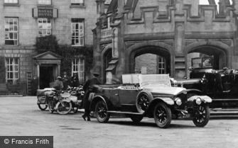 Kirkby Lonsdale, Chauffeur and Car, Market Square 1924