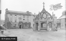 Market Cross And Royal Hotel c.1931, Kirkby Lonsdale