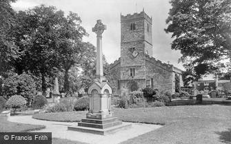 Kirkby Lonsdale, St Mary's Church and War Memorial 1924