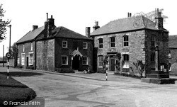 The Cross And Police Station c.1955, Kirkby Malzeard