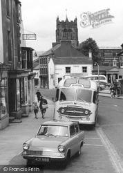 A Car And Bus, Market Street 1961, Kirkby Stephen