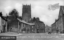 Church From North Row c.1955, Kirkby Stephen
