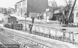 Kirkby, The Station Platform c.1910