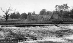 Kirkham, River Derwent And Abbey c.1960