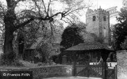 The Lychgate And Church c.1960, Kirklington