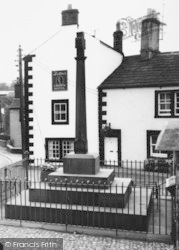 Kirkoswald, Memorial Cross And The Crown Hotel c.1965