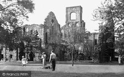 Kirkstall Abbey, c.1960